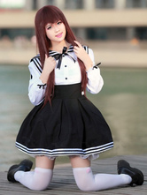 Anime Costumes AF-S2-607839 Halloween Sexy Navy Costume Lovely School Girl Long Sleeves Uniforms