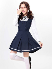 Anime Costumes AF-S2-607837 Halloween Sexy Navy Costume Lovely School Girl JumpSuit Uniforms with Shirts