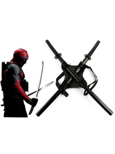 Anime Costumes AF-S2-607893 Deedpool 2017 Film Carrying Strap and Double-pole Wooden Sword Film Cosplay Weapon