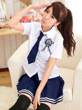 Anime Costumes AF-S2-607831 Halloween Japanese School Girl Nerd Uniforms British Navy Costume