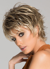 Anime Costumes AF-S2-608931 Women's Short Wigs Flaxen Deep Wave Curly Full Wigs