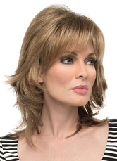 Anime Costumes AF-S2-608977 Light Brown Curls at End Short Full Wigs