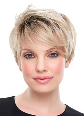 Anime Costumes AF-S2-608919 Blonde Short Wigs Straight Full Wigs In Heat-resistant Fiber