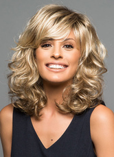 Anime Costumes AF-S2-608967 Short Wigs Flaxen Spiral Curls Full Wigs