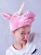 Anime Costumes AF-S2-609637 Halloween Funny Pink Horse Hat