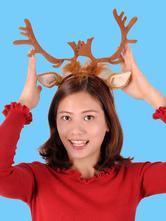 Anime Costumes AF-S2-609639 Halloween Funny Deer Headband