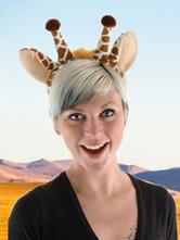 Anime Costumes AF-S2-609631 Halloween Funny Giraffe Headband