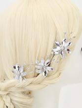 Свадебные головные украшения стразами блеск цветок типа для новобрачных шпильки