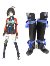 Anime Costumes AF-S2-610969 Kabaneri of the Iron Fortress Koutetsujou no Kabaneri Mumei Cosplay Shoes Mumei Cosplay Boots