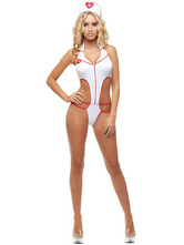 Anime Costumes AF-S2-611491 Sexy White Nurse Backless Costume
