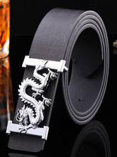 Leather Cool Black Belt For Men With Pin Buckle