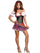Anime Costumes AF-S2-612549 Sexy European Gypsy Girl Dress Halloween Beer girl Two Pieces Costume Cosplay
