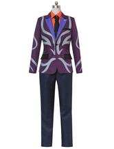 Anime Costumes AF-S2-613365 Tokyo Ghoul Tsukiyama Shuu Halloween Cosplay Costume Purple Suit