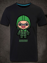 Anime Costumes AF-S2-613283 Halloween Green Arrow Cartoon Print Short Sleeves Cotton T-Shirt Costume