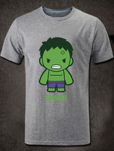 Anime Costumes AF-S2-613275 Halloween Hulk Marvels Super Heroes Short Sleeves Cotton T-Shirt