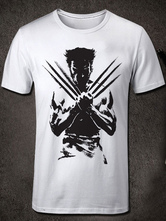 Anime Costumes AF-S2-613287 Halloween Wolverine Print Cotton T-Shirt for Summer