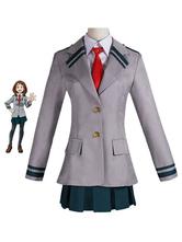Anime Costumes AF-S2-613361 My Hero Academia Boku no Hero Academia Uraraka Ochako Cosplay Costume School Uniform