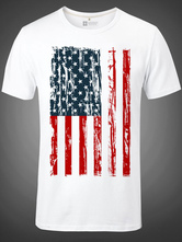 Anime Costumes AF-S2-613289 Halloween American Flag Print Short Sleeves T-Shirt for Man