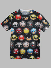 Anime Costumes AF-S2-613301 Captain America Cotton Tee
