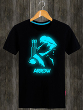 Anime Costumes AF-S2-613267 Halloween Green Arrow T-Shirt for Summer Movie Costume