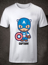 Anime Costumes AF-S2-613281 Halloween Marvel's The Avengers American Captain Short Sleeves Cotton T-Shirt