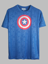 Anime Costumes AF-S2-613303 Captain America Cotton Tee