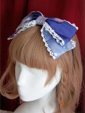 Lolitashow Organza Sweet Lolita Headbow Rainbow Cotton Candy broderie Trim