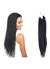 AF-S2-613977 Black Long Wig African American Hair Dreadlock Synthetic Wig Extension