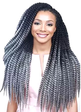 AF-S2-613975 Long Wig Extension Women's African American Hair Gray Curly Dreadlock Wig In Heat-resistant Fiber