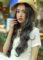 AF-S2-614003 Centre Parting Long Curly Wigs