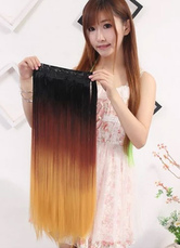 Anime Costumes AF-S2-614017 Women's Hair Extensions Long Straight Wigs Three-color Wigs In Heat-resistant Fiber