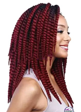 Anime Costumes AF-S2-613971 Wigs African American Hair Extension Women's Medium Heat-resistant Fiber Wig Extension