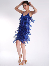 Anime Costumes AF-S2-615325 Latin Dance Dress Tassel Sequined Dance Costume