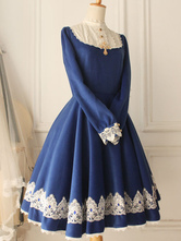 Anime Costumes AF-S2-615283 Classic Lolita Victoria Wool Vintage Beaded Long Sleeves Dress