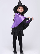 Anime Costumes AF-S2-615649 Halloween Purple Witch Costume for Kid