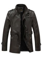 Chaqueta de cuero con escote 2020 chaqueta de hombre con cinturón