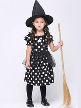 Anime Costumes AF-S2-615635 Halloween Black Witch Costume for Kid