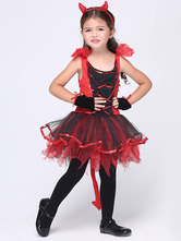 Anime Costumes AF-S2-615687 Halloween Red Demon Costume for Kid
