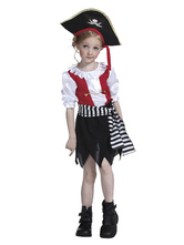 Anime Costumes AF-S2-615637 Halloween Black Pirate Costume for Kid