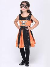 Anime Costumes AF-S2-615631 Halloween Skeleton Costume for Kid