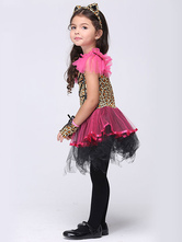 Anime Costumes AF-S2-615671 Halloween Leopard Dress Animal Costume Cosplay for Kid