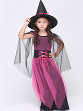 Anime Costumes AF-S2-615659 Halloween Rose Red Witch Costume for Kid