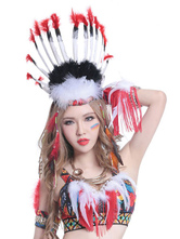 Anime Costumes AF-S2-615569 Halloween Indian Feather Headdress for Carnival