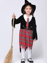 Anime Costumes AF-S2-615633 Halloween Black Witch Costume for Kid