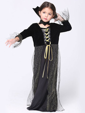 Anime Costumes AF-S2-615661 Halloween Black Witch Costume for Kid