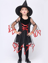 Anime Costumes AF-S2-615639 Halloween Black Witch Costume for Kid
