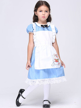Anime Costumes AF-S2-615665 Alice In Wonderland Costume Halloween Fairytail Costume Cosplay for Kid