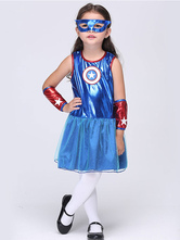 Anime Costumes AF-S2-615667 Halloween Captain American Dress Super Hero Costume Cosplay for Kid