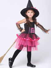 Anime Costumes AF-S2-615651 Halloween Rose Red Witch Costume for Kid