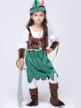 Anime Costumes AF-S2-615641 Halloween Green Pirate Costume for Kid